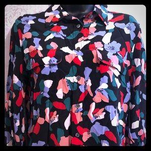 Equipment Silk Slim Fit Floral Signature blouse